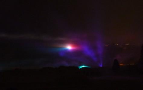 知床音響激光show,模擬以前曾出現過的北極光