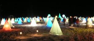 三角錐燈籠