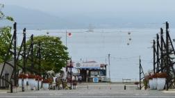 洞爺湖畔的觀光船碼頭
