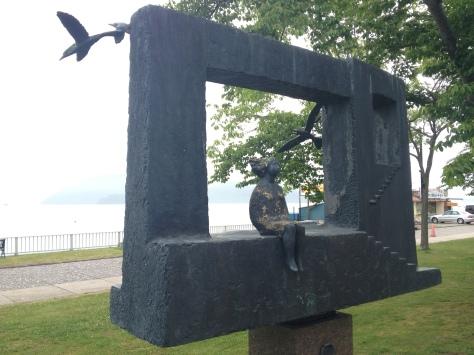 洞爺湖畔雕塑